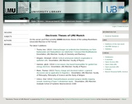 Digital Theses of the University of Munich